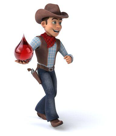 Fun Cowboy - 3D Illustration Фото со стока