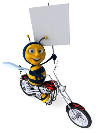 Fun bee - 3D Illustration 写真素材