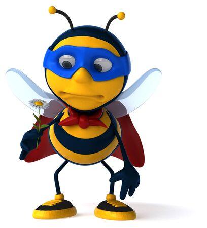 Fun bee - 3D Illustration Фото со стока