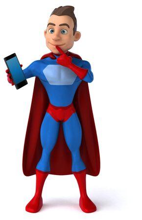 Fun superhero - 3D Illustration Фото со стока