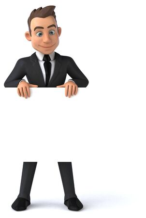 Fun business man - 3D Illustration