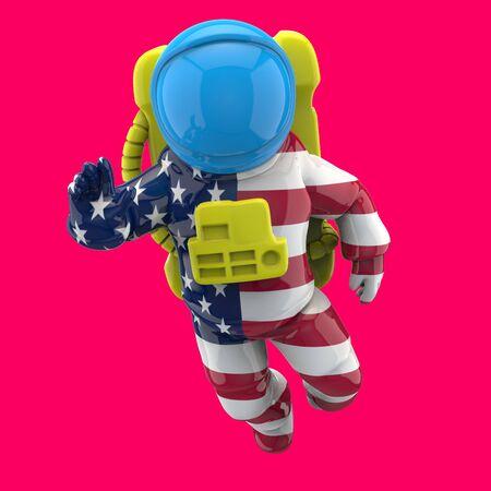 Astronaut concept - 3D Illustration Foto de archivo - 130858457