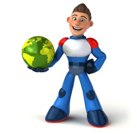 Super modern superhero - 3D Illustration Banque d'images - 130805121
