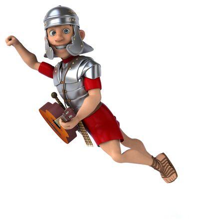 Roman soldier - 3D Illustration Stok Fotoğraf