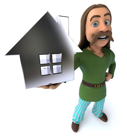 Fun Gaul - 3D Illustration Reklamní fotografie