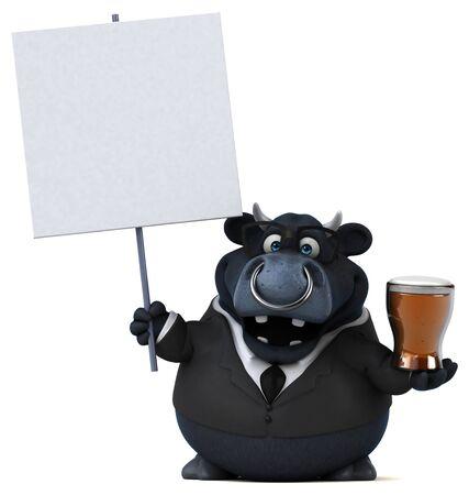 Black bull - 3D Illustration Banque d'images - 130805055