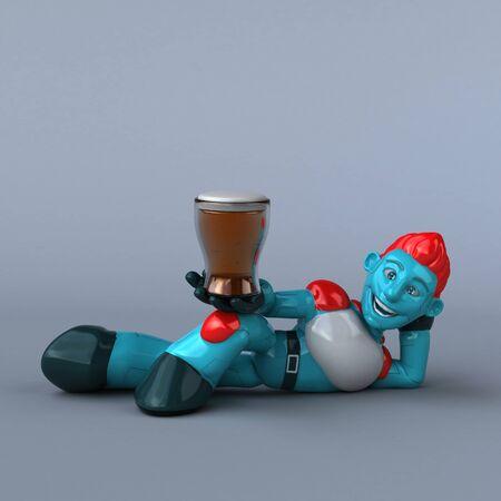 Red Robot - 3D Illustration Banque d'images - 130805000