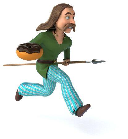 Fun Gaul - 3D Illustration Stock fotó