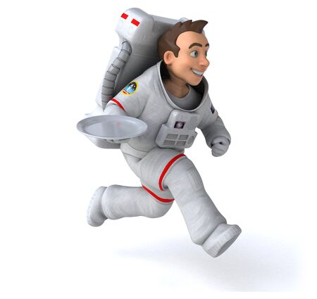 Fun astronaut - 3D Illustration