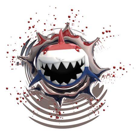 Shark concept - 3D Illustration Stok Fotoğraf