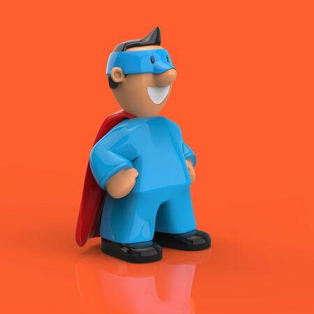 Superhero concept - 3D Illustration Stockfoto