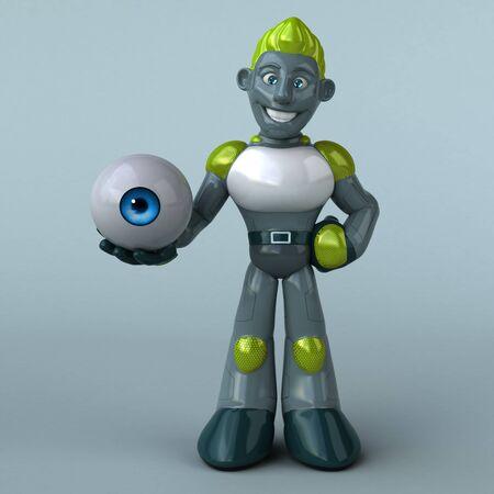 Green Robot - 3D Illustration Banque d'images - 130804797