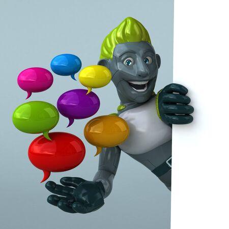 Green Robot - 3D Illustration Banque d'images - 130803001