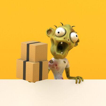 Fun zombie - 3D Illustration Stok Fotoğraf