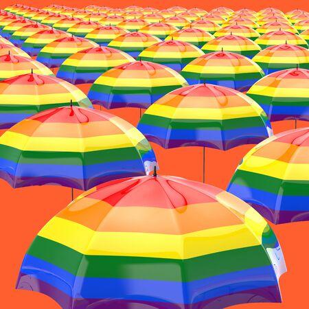 Umbrella concept - 3D Illustration Фото со стока - 130803332