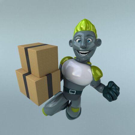 Green Robot - 3D Illustration Banque d'images - 130803409