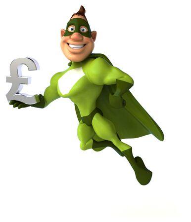 Fun superhero - 3D Illustration Stok Fotoğraf