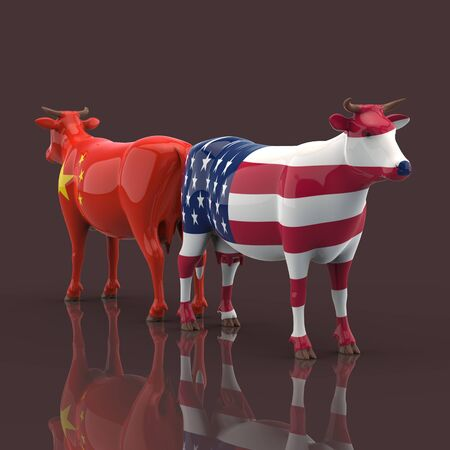 Cow concept - 3D Illustration 版權商用圖片