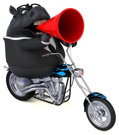 Fun horse - 3D Illustration 版權商用圖片