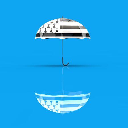 Umbrella concept - 3D Illustration Фото со стока