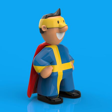 Superhero concept - 3D Illustration Stockfoto