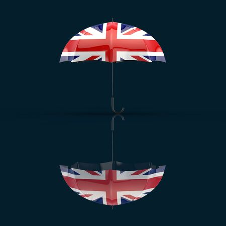 Umbrella concept - 3D Illustration Stok Fotoğraf
