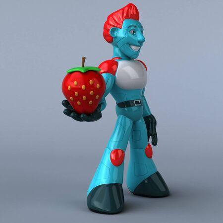 Red Robot - 3D Illustration Фото со стока