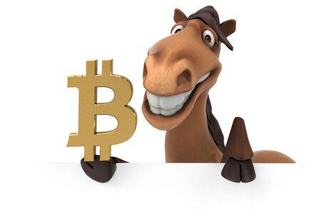 Fun horse - 3D Illustration Stock fotó