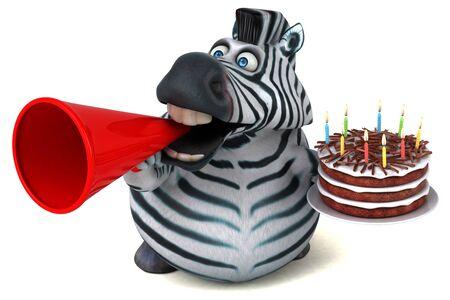 Fun zebra - 3D Illustration Zdjęcie Seryjne