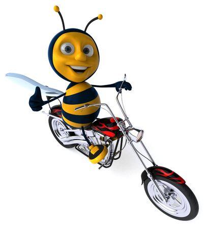 Fun bee - 3D Illustration Stock Photo