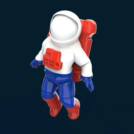 Astronaut concept - 3D Illustration 스톡 콘텐츠