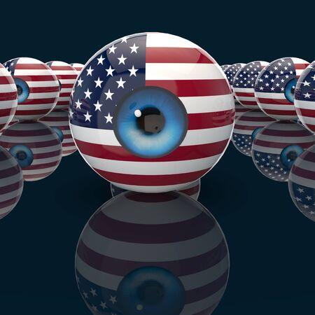 Surveillance concept - 3D Illustration