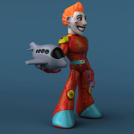 Mexican hero - 3D Illustration