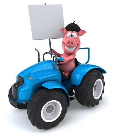 Fun pig Imagens