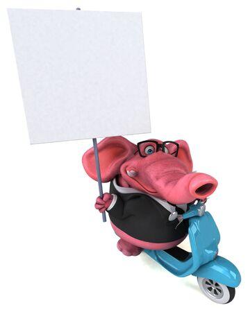 Fun elephant - 3D Illustration Reklamní fotografie