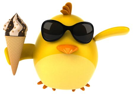 Yellow bird - 3D Illustration Zdjęcie Seryjne