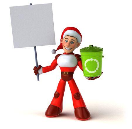 Fun Super Santa Claus - 3D Illustration 版權商用圖片 - 131603795