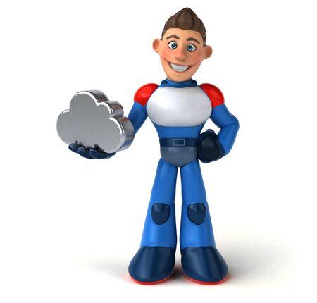 Super modern superhero - 3D Illustration 版權商用圖片 - 131604341