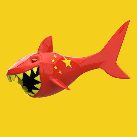 Shark concept - 3D Illustration Zdjęcie Seryjne