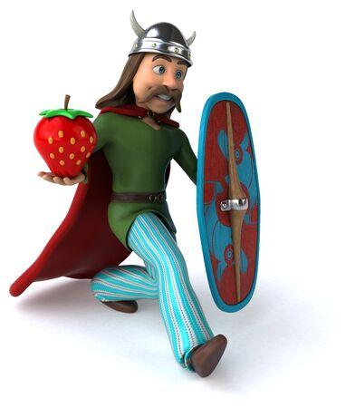 Fun Gaul - 3D Illustration 写真素材