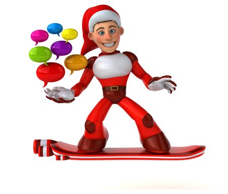 Fun Super Santa Claus - 3D Illustration