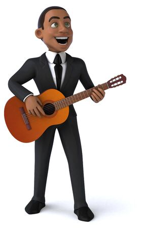 Fun businessman - 3D Illustration 版權商用圖片