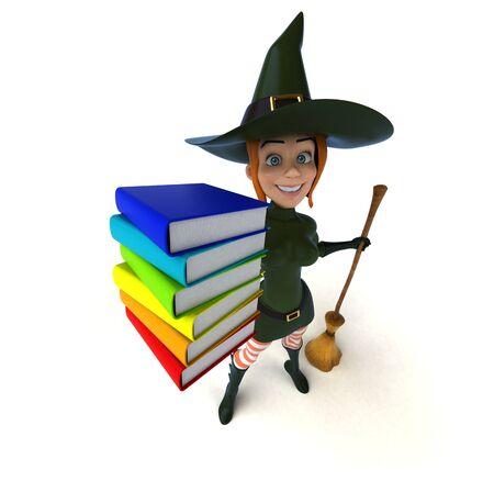 Sexy witch - 3D Illustration Reklamní fotografie