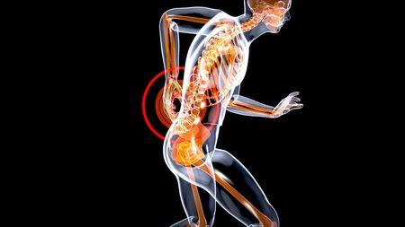 Man suffering from severe back pain Archivio Fotografico - 136967740
