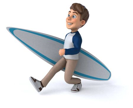 3D cartoon character fun teenager