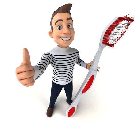 Fun 3D cartoon casual character Zdjęcie Seryjne