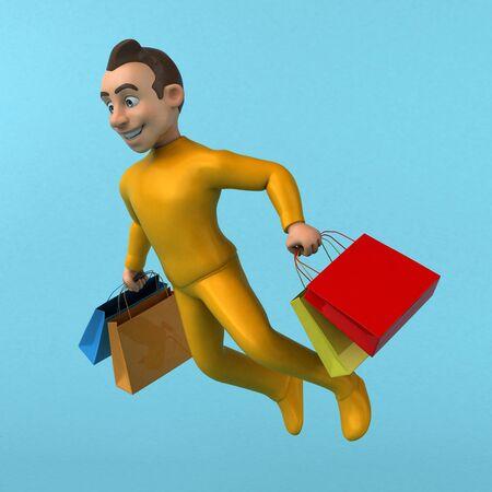 Fun 3D cartoon yellow character