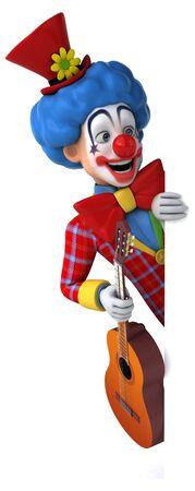 Fun clown - 3D Illustration Stok Fotoğraf
