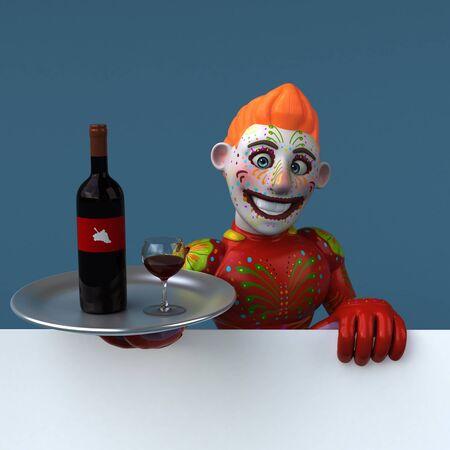 Mexican hero - 3D Illustration