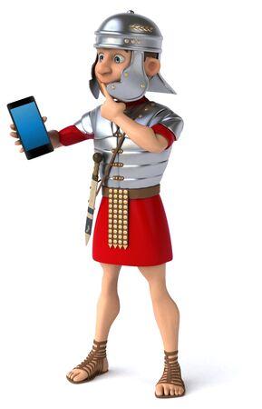 Fun roman soldier - 3D Illustration Stok Fotoğraf